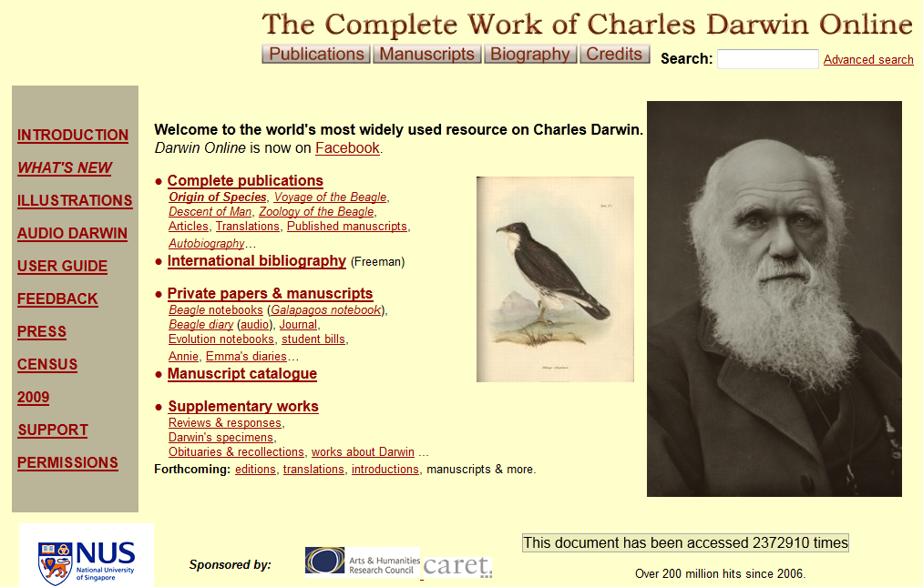the works and achievements of charles darwin Charles darwin's the foundations of the origin of species  dr irvin expanded  the collection from this core to acquire selected works of darwin's  exhibit sets  out both to chart darwin's career and to illustrate his achievements and influence, .