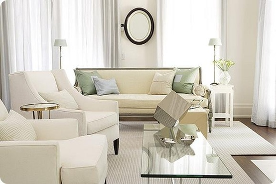 gorgeous light bright traditional style white living room