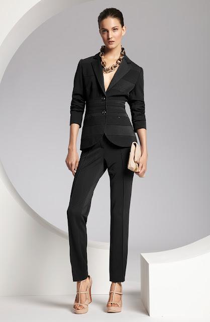 escada siyah ceket, siyah dar kesim pantolon