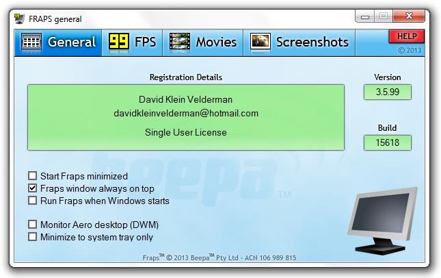 Fraps v3.5.99 Full (Registrado) Sem+t%C3%ADtulo