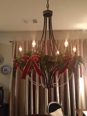 Christmas Decorating Chandelier
