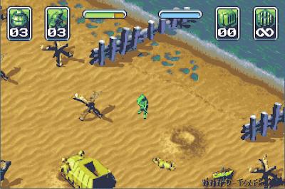 Army Men: Operation Green Screenshot (Game Boy Advance) D-T3X F.A™
