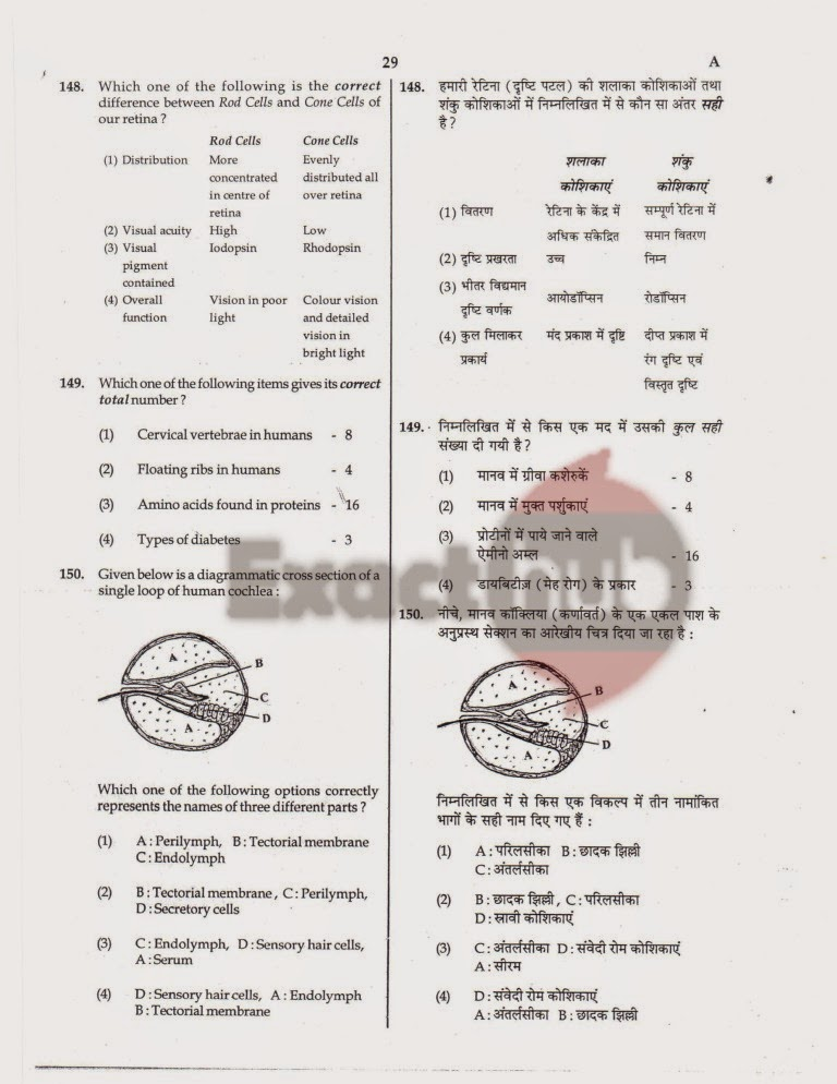 AIPMT 2008 Question Paper Page 29