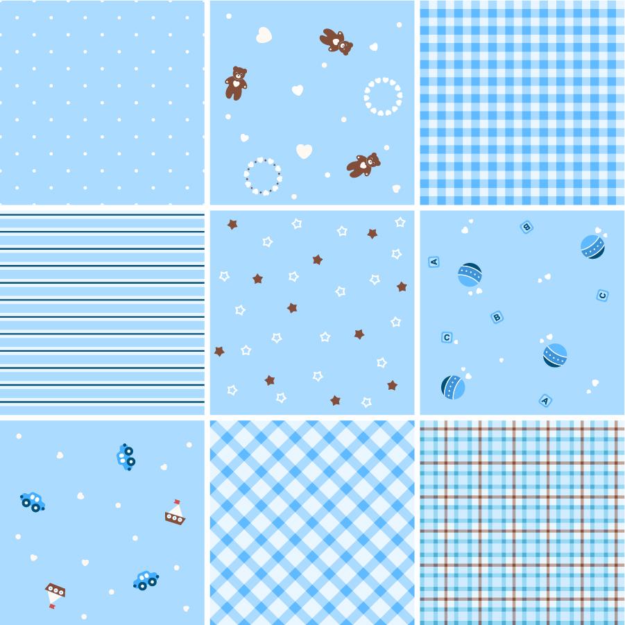 シームレス パターンと格子柄の背景 Collection of Seamless Plaid Patterns Vector  イラスト素材