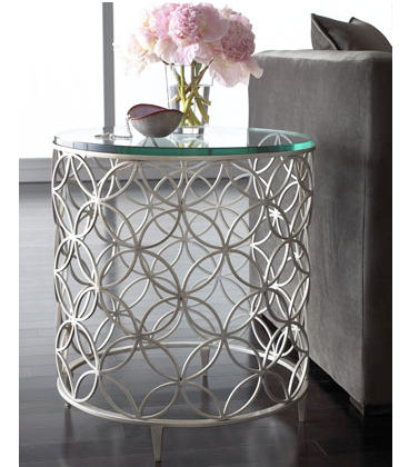 Quirks and progress pinterest challenge diy metal side table for Diy metal end table