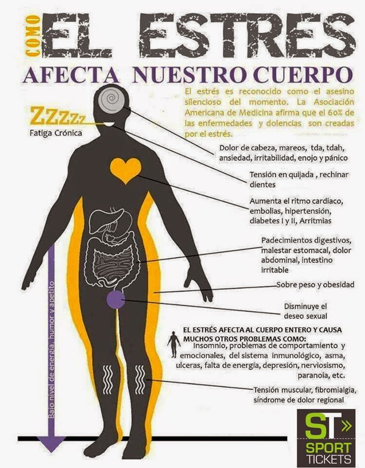 El Estrés afecta nuestro cuerpo