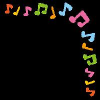 かわいいコーナー素材のイラスト「音符」