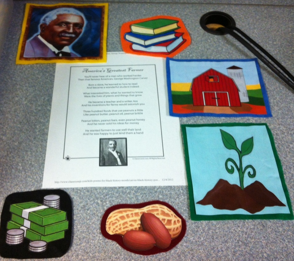 George washington carver crafts - Miss Teresa Found This Poem About George Washington Carver And Miss T Made Some Felt Pieces To Go Along With It