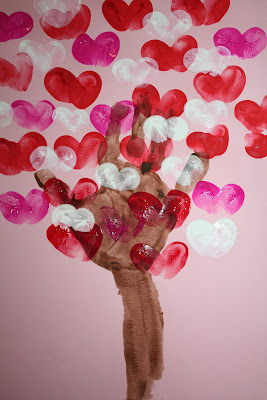 copacel cu inimioare