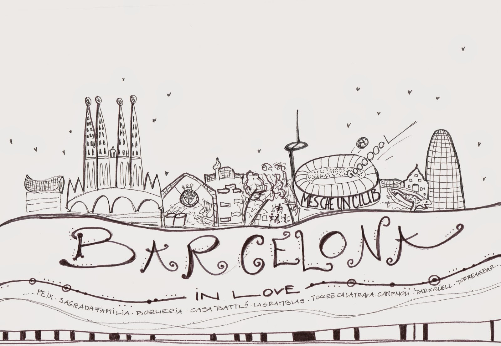 mit Strich und Faden | Doodle Sketch from Barcelona