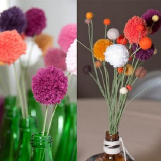 Flores con Lana Reciclada, Ideas Para Reciclar y Decorar
