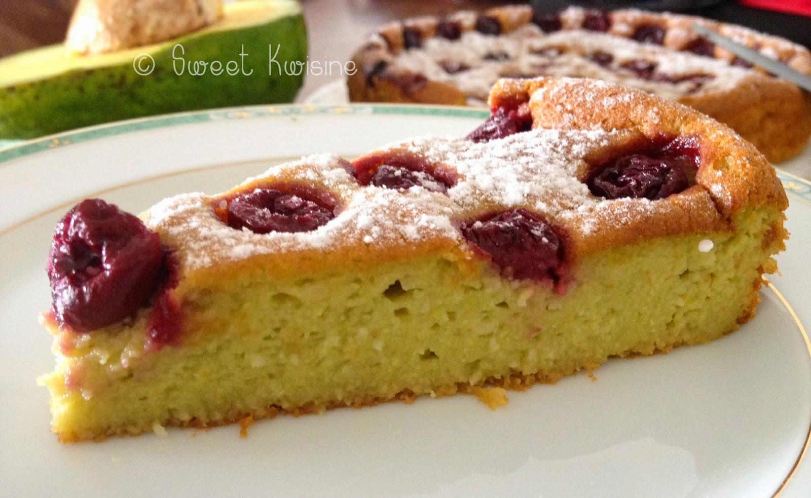 Sweet Kwisine, gâteau, avocat, avocado, cake, healthy food, cuisine légère, Brésil, cuisine végétarienne