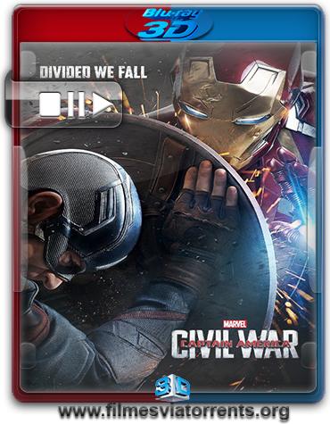 Capitão América: Guerra Civil Torrent – BluRay Rip 1080p 3D HSBS Dublado 5.1 (2016)