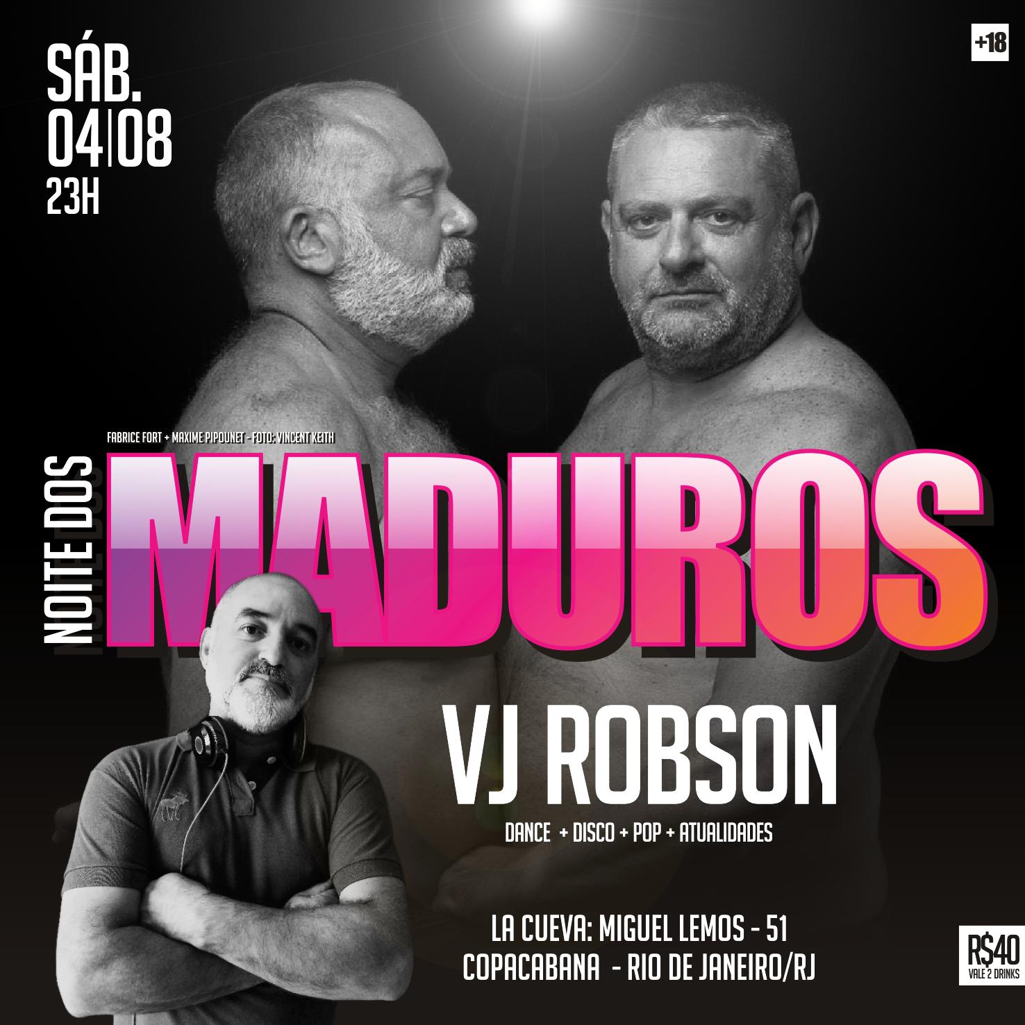 SÁBADO - 04/08 - 23H - NOITE DOS MADUROS