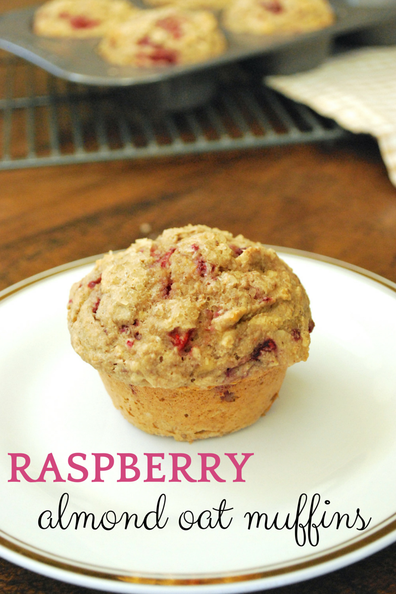 Raspberry Almond Oat Muffins: These muffins are incredibly easy to whip up and make for a perfect afternoon snack or breakfast on-the-go.