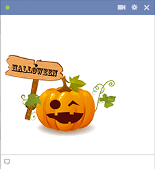 Halloween Pumpkin - Facebook Sticker