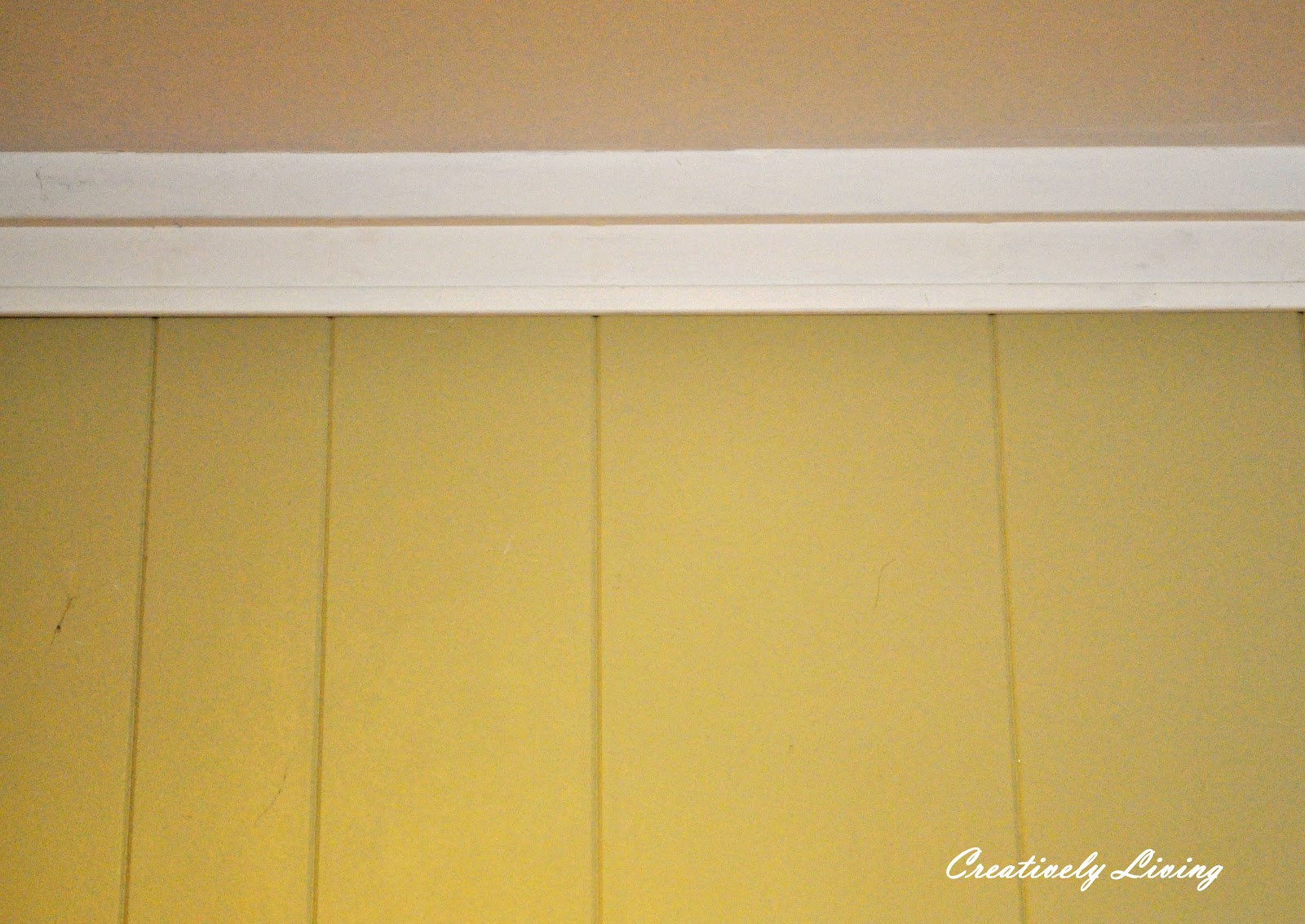 Faux Molding And Painting For Wood Paneling Under 30 Cents Ft With The Kid 39 S Wednesday
