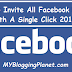 Code to Invite All Facebook Friends With A Single Click 2016