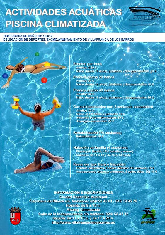 Actividades acu ticas en la piscina climatizada el eco for Piscina villafranca