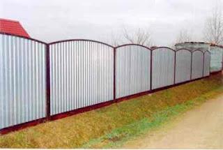 Забор из профлиста. Фото 31
