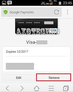 Cara Hapus Payment Credit Card Pada Goolge Play Store