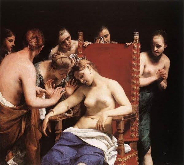 la morte di Cleopatra di Guido Cagnacci