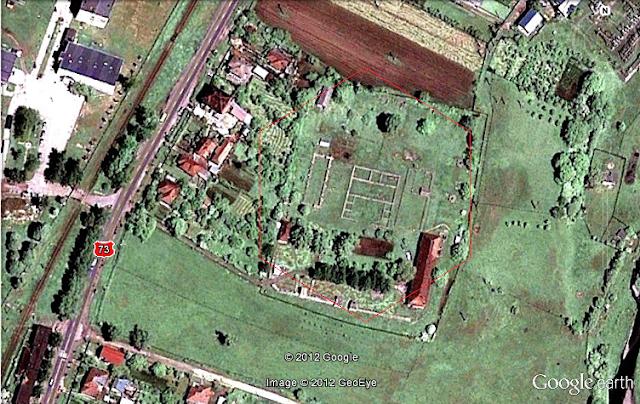 castrul roman jidava vedere din satelit