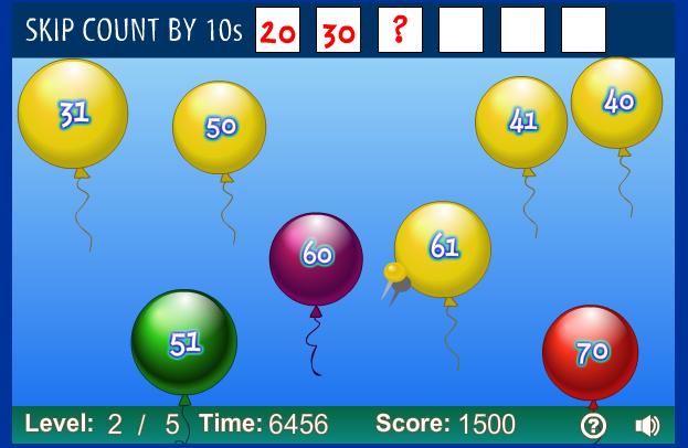 http://www.sheppardsoftware.com/mathgames/earlymath/BalloonPopSkip.htm
