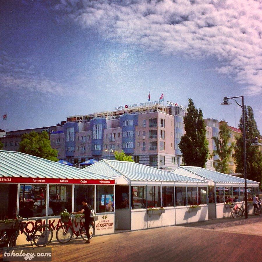 Market square in Savonlinna