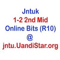 Jntuk 1-2 2nd Mid Online Bits