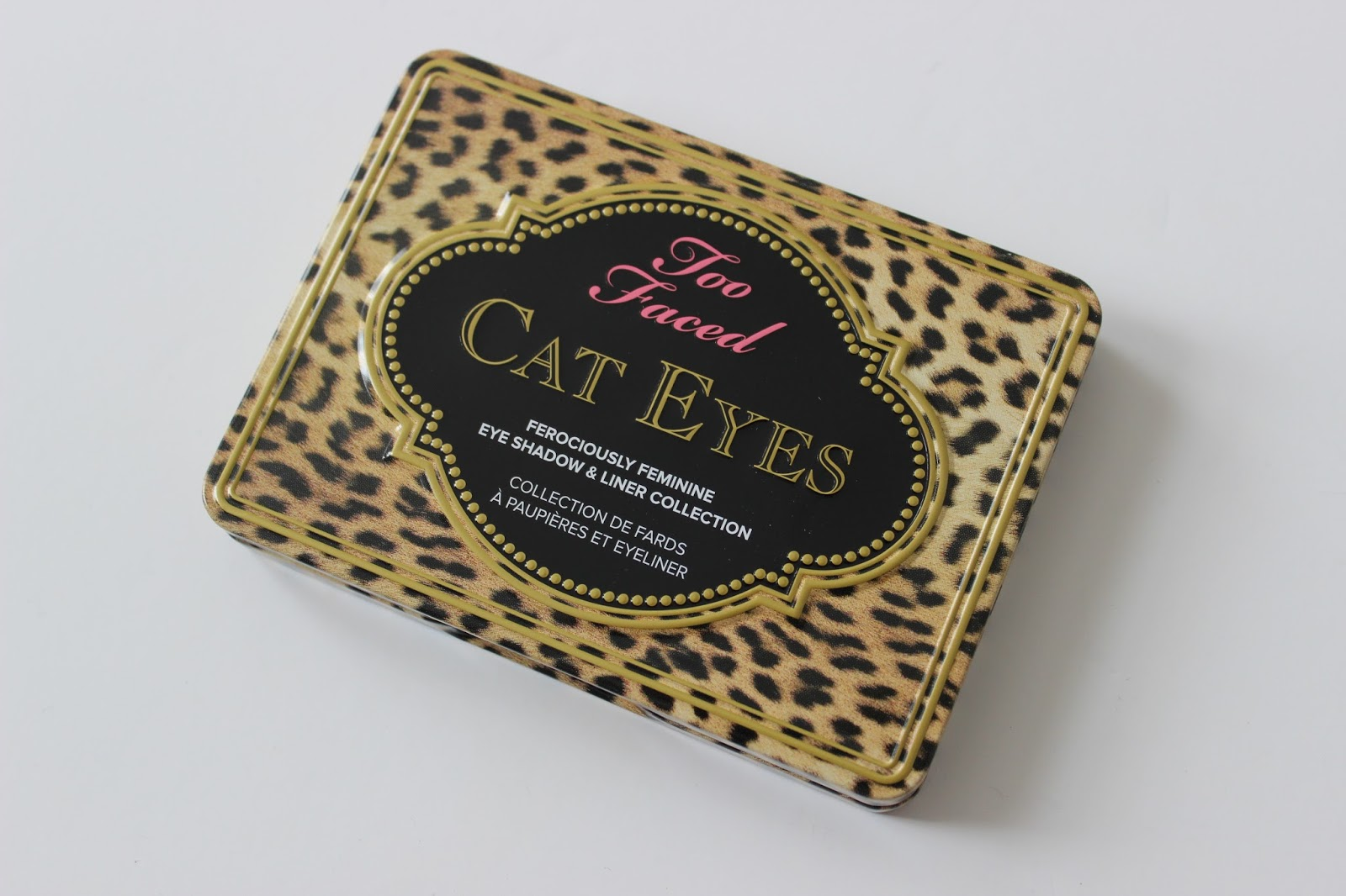 Too Faced Cat Eyes shadow palette tin