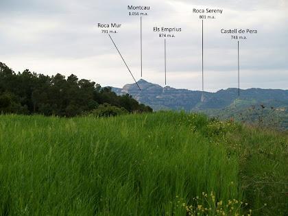 El Montcau i serrats propers des de la Mussarra