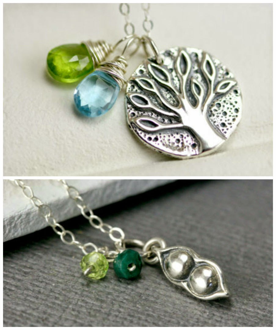 Family Tree Necklace Silver Pea