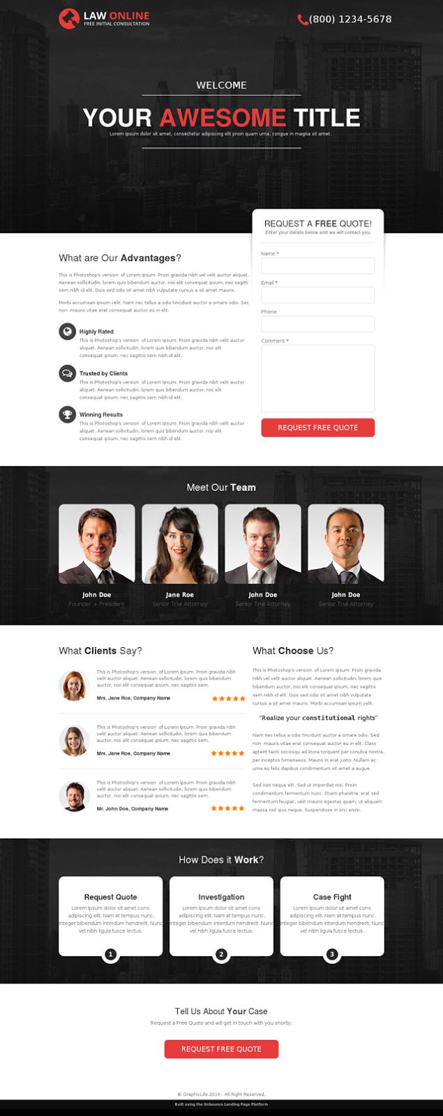 Lawyer's website theme