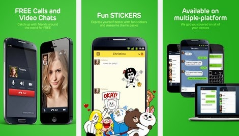 video call with Line messenger