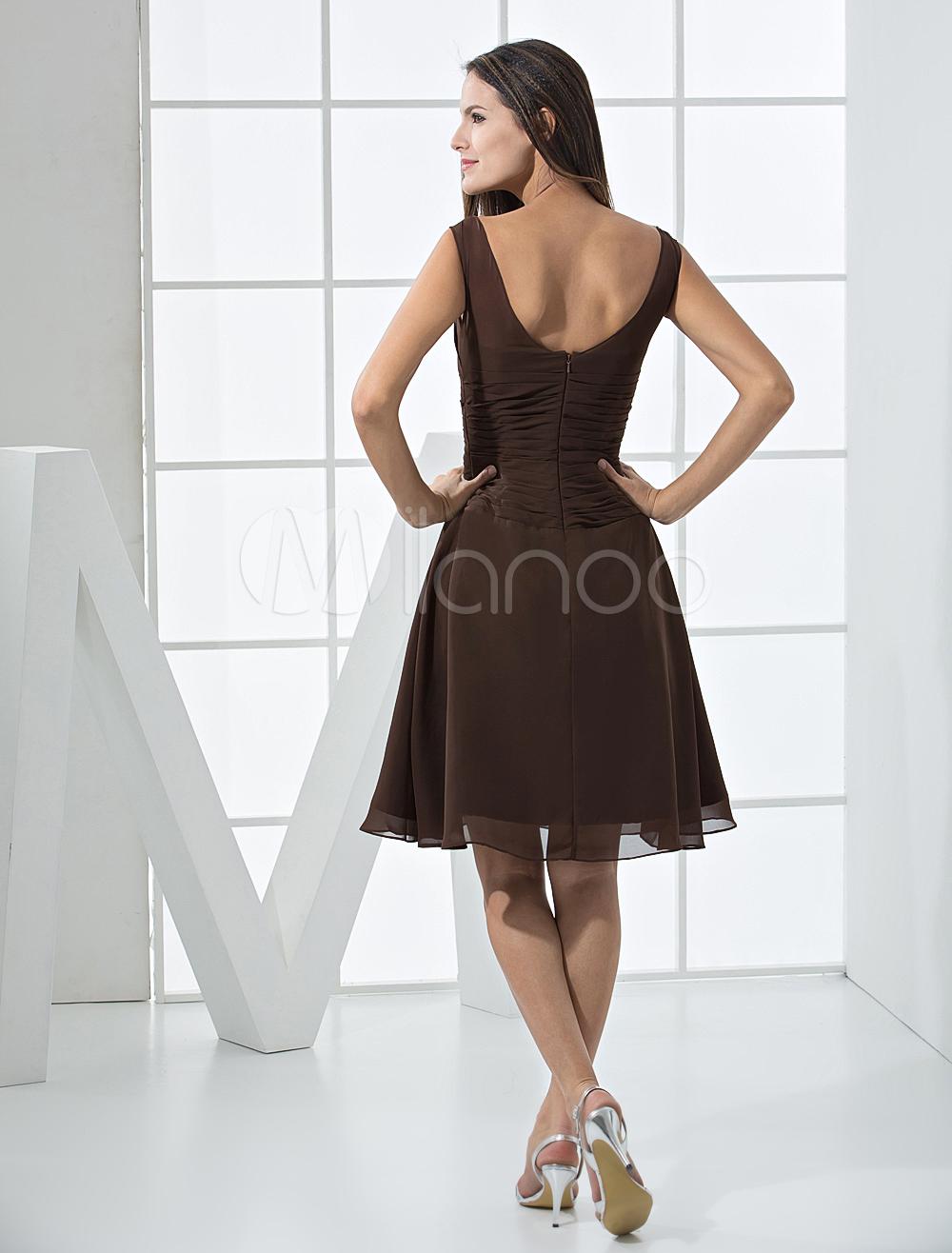 Robes sexy - Robe de soirée fabuleuse d'A-linge en mousseline de satin de longueur de thé