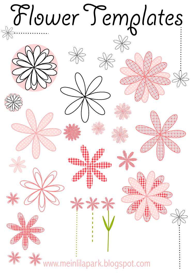 Free printable flower templates ausdruckbare blumen for Free paper flower templates