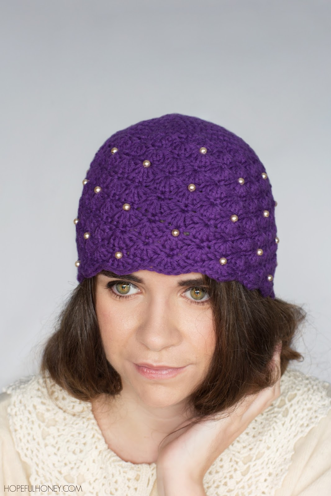 Crochet Pattern For A Cloche Hat : Hopeful Honey Craft, Crochet, Create: 1920s Scalloped ...