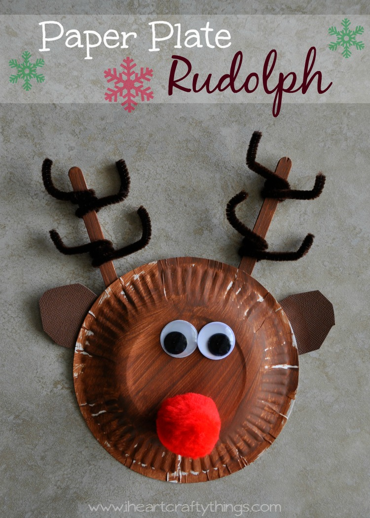 I heart crafty things paper plate rudolph reindeer for Reindeer project