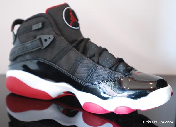 Mens Air Jordan Six Rings Jordan 11 Black White Red shoes
