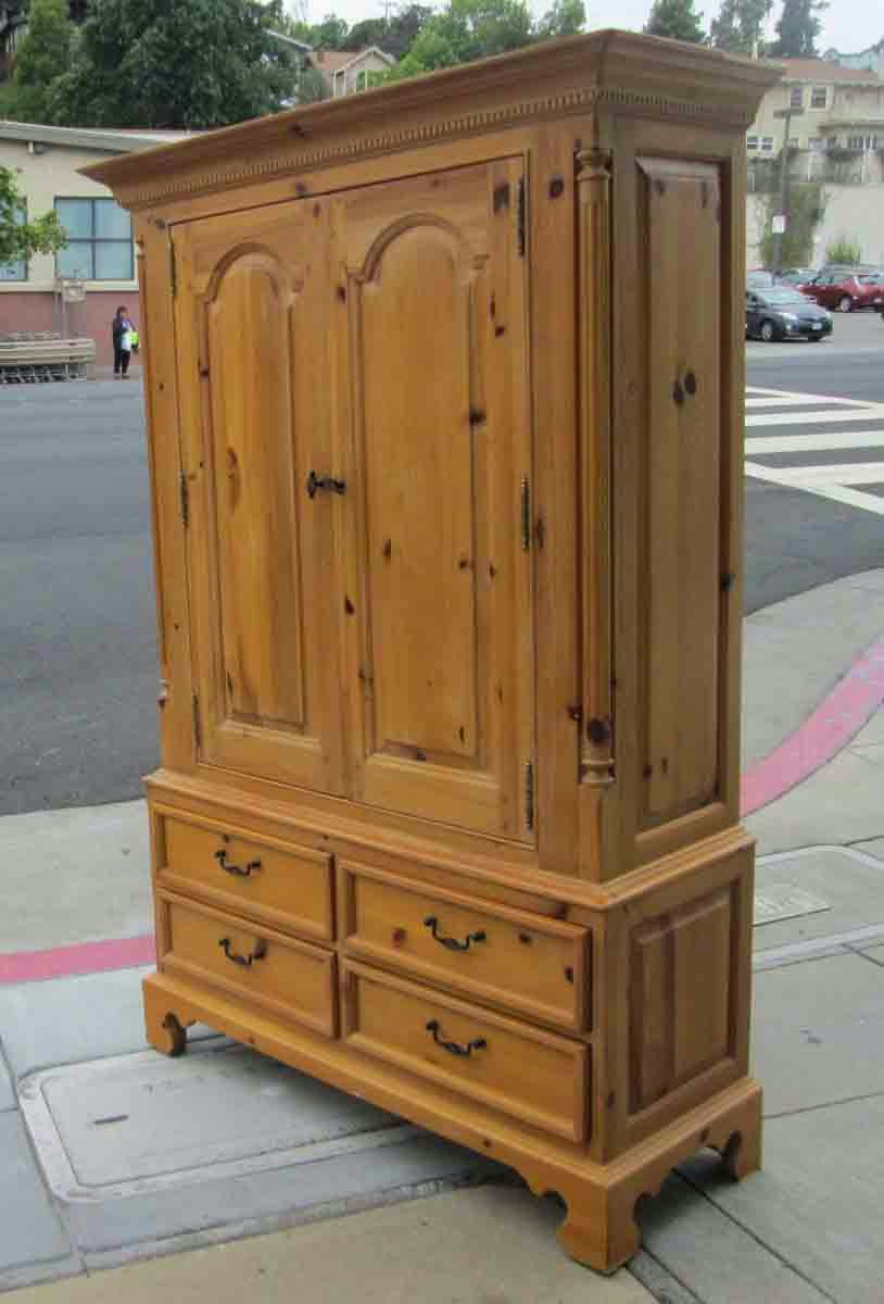 High Quality SOLD Knotty Pine Thomasville Armoire   $195