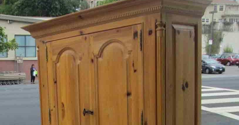 furniture collectibles sold knotty pine thomasville armoire 195