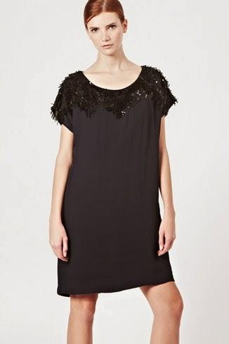 siyah bol kesim gece elbisesi