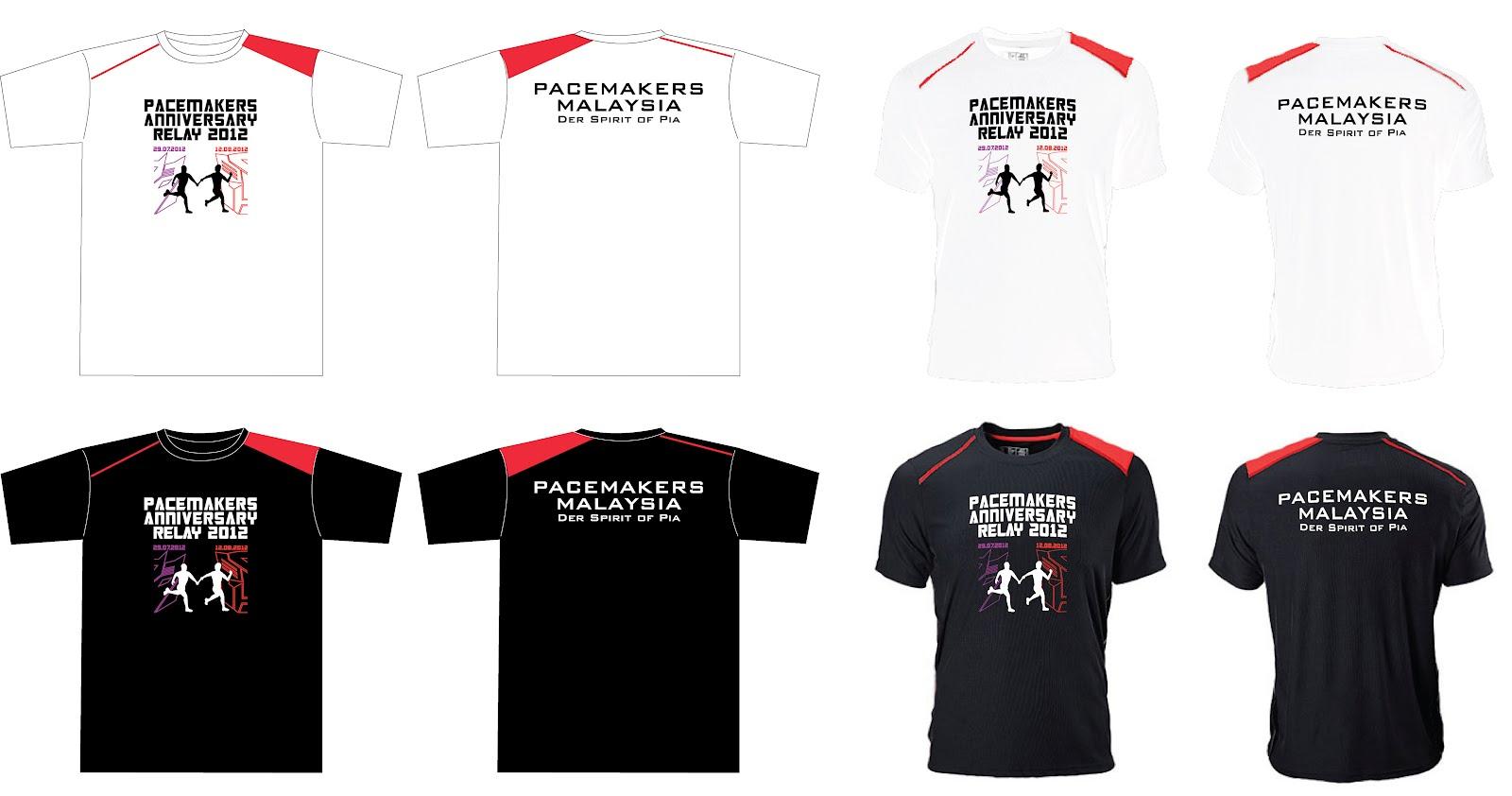 Shirt design malaysia - Pacemakers Anniversary Run 2012 T Shirt Design