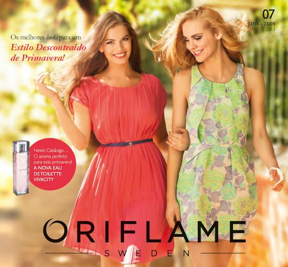 Capa do Catálogo 07 de 2013 da Oriflame