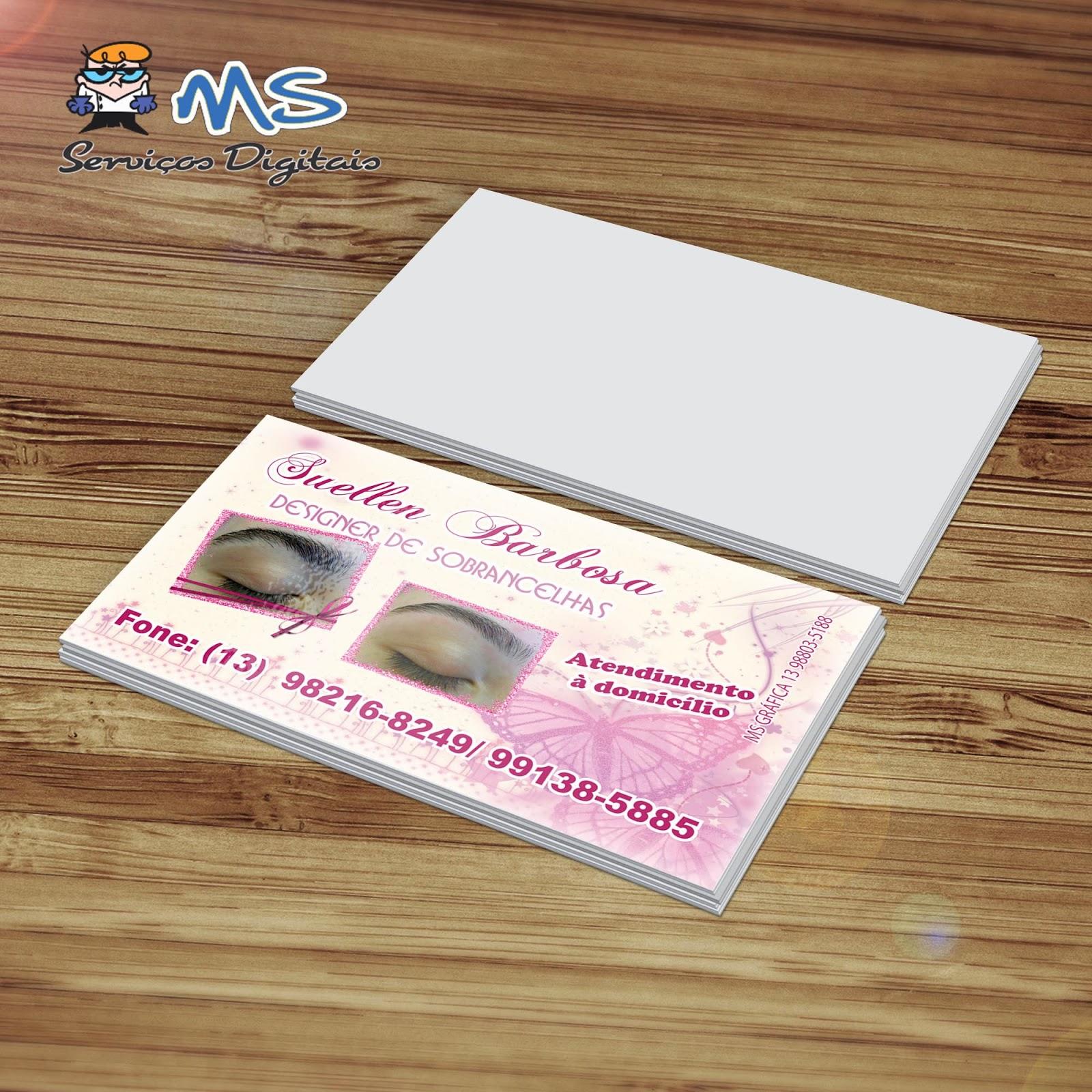 Well-known MS Serviços Gráficos e Digitais: Cartões de Visita - Suellen  TV07