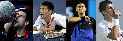 Djokovic desafiante y chulo en distintos partidos