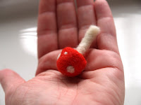 Waldorf craft tutorial for a needle felted toadstool