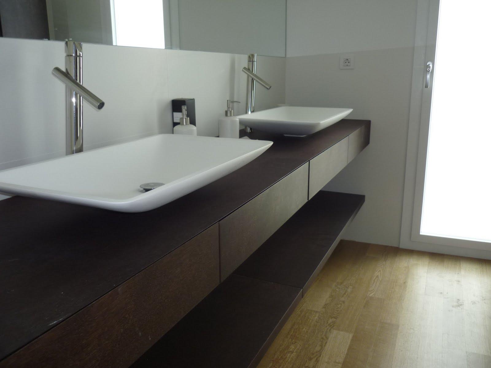 Ba o i encimeras wengue terral muebles a medida y - Encimeras lavabos bano ...