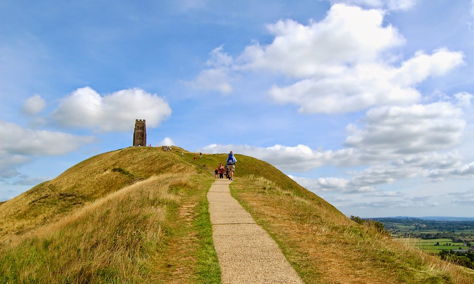 Near the summit of Glastonbury Tor